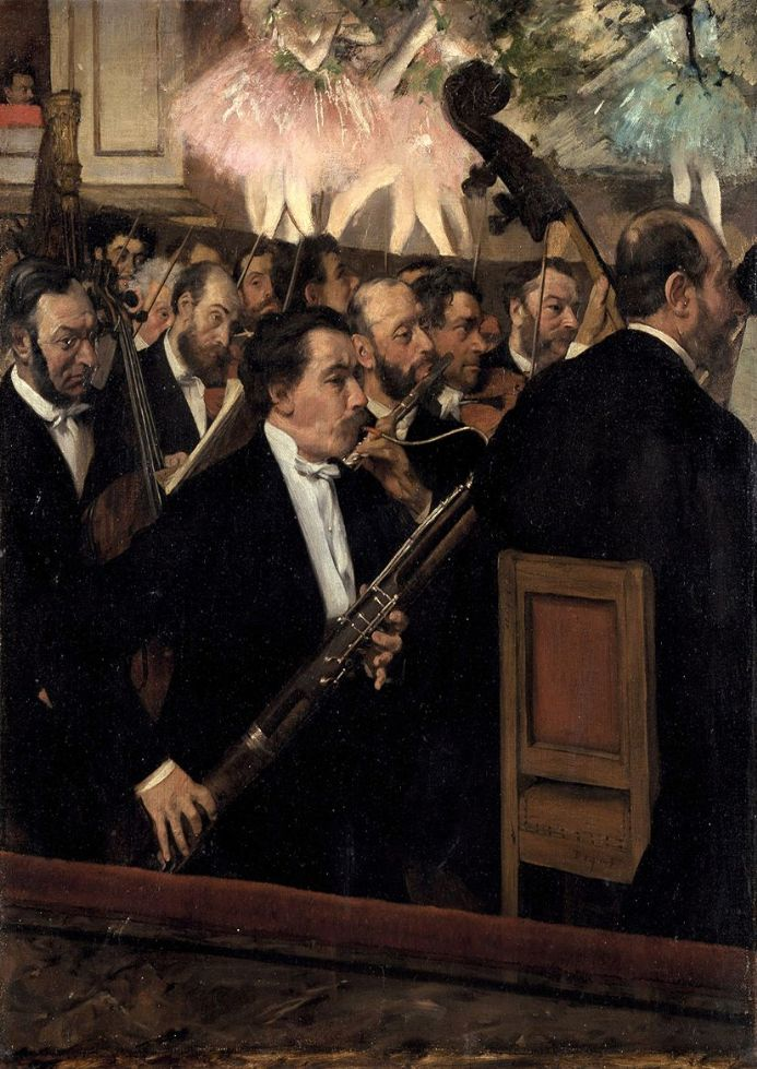 Degas, Edgar: The Orchestra at the Opera. Fine Art Print/Poster. Sizes: A4/A3/A2/A1 (003768)